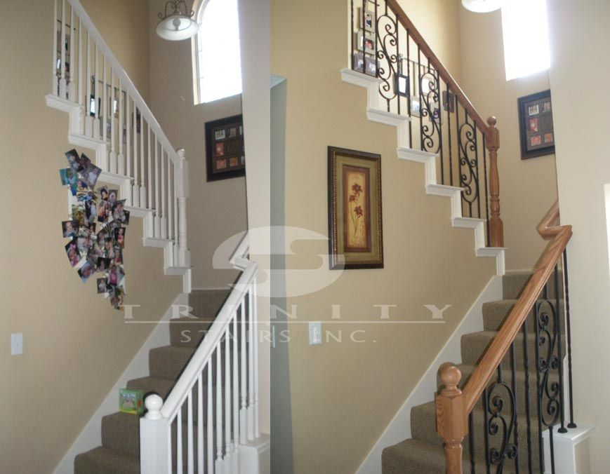 Captivating Stair Remodel Before U0026 After