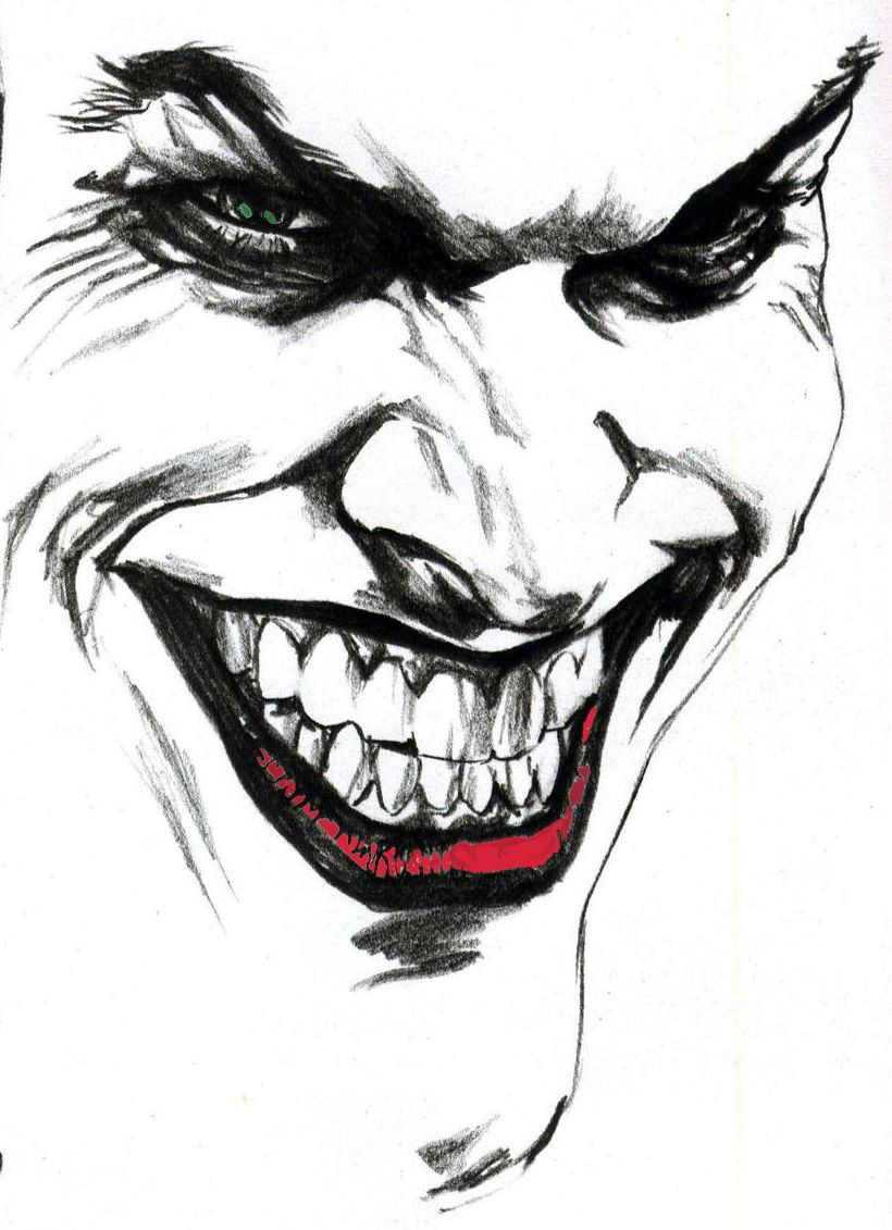 Gambar Joker Pensil Black And White