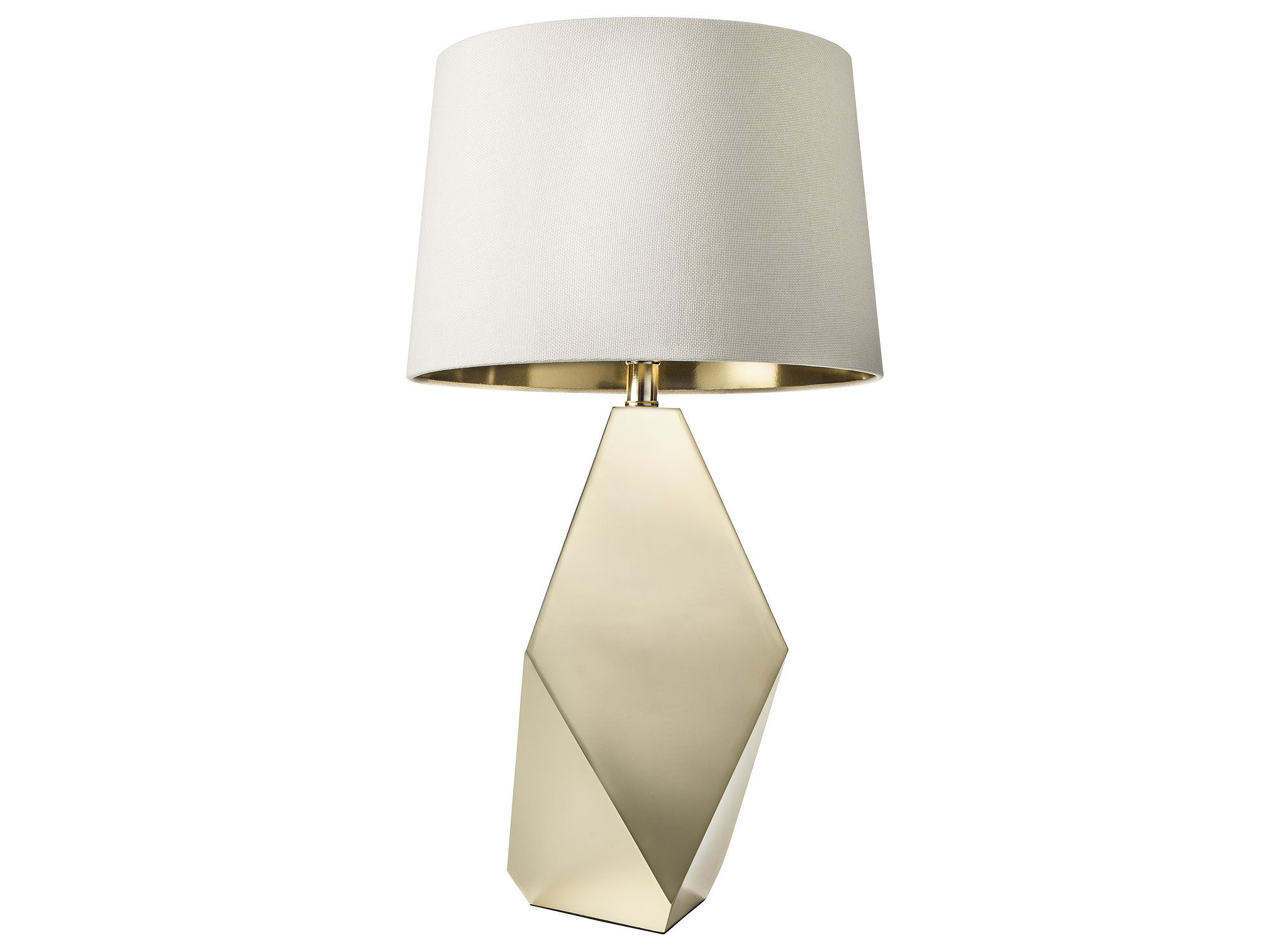 Good Gold Table Lamp Base ($55) And Gold Lining Lamp Shade ($25).