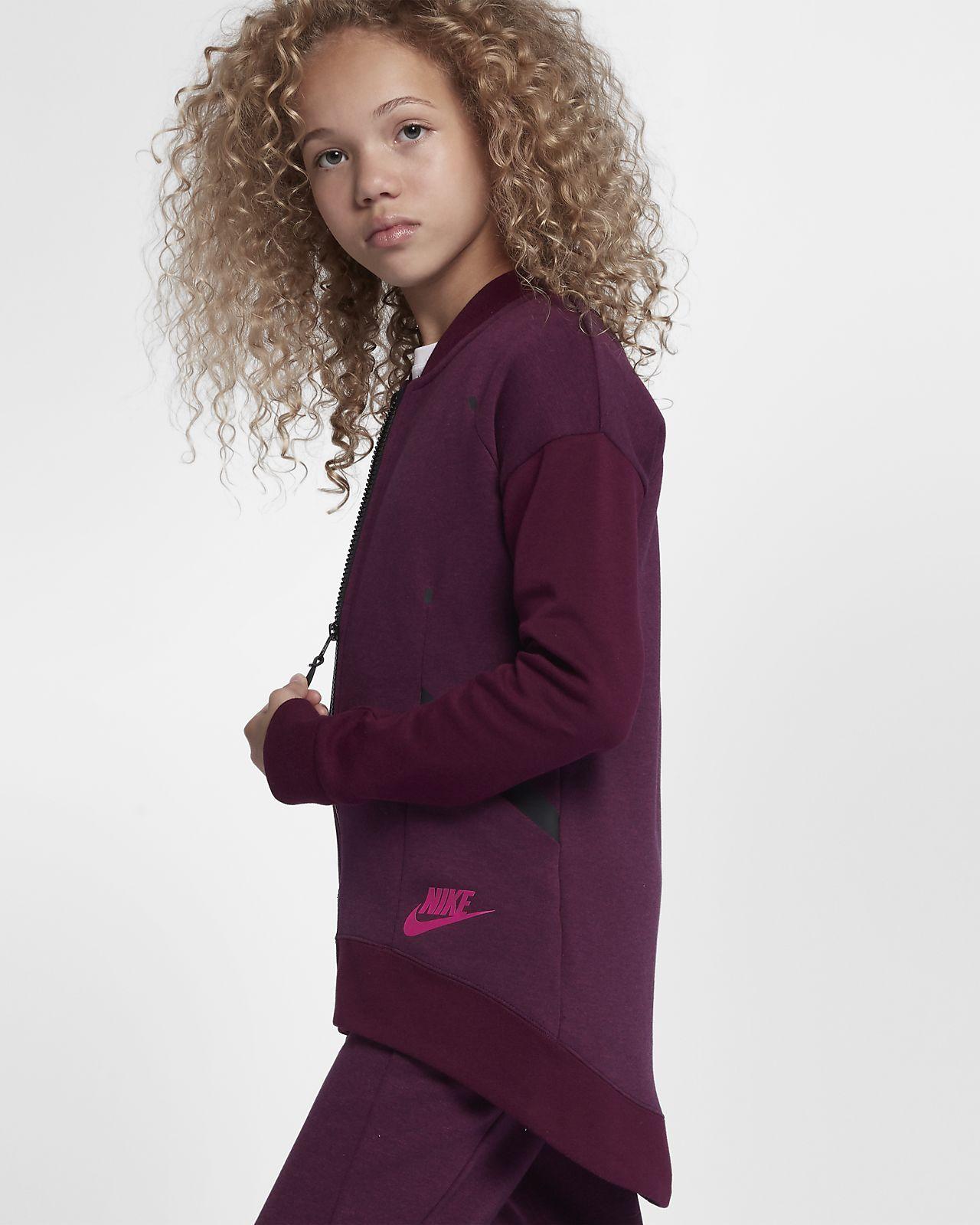 f5f0dd0f205a Nike Sportswear Tech Fleece Older Kids  (Girls ) Jacket