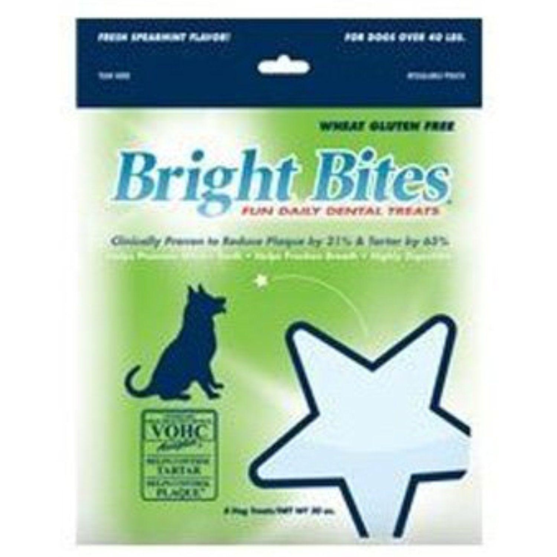 Bright Bites Daily Dental Fresh Spearmint Flavor Large Dog