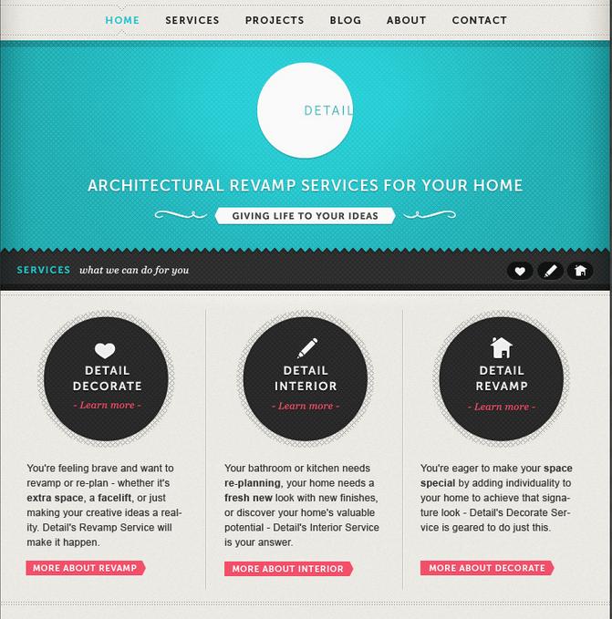 Nice retro Webdesign
