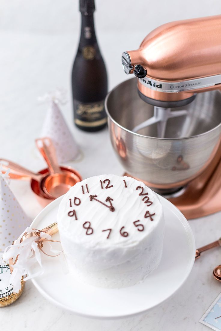Countdown to Midnight Pound Cake with Champagne Frosting