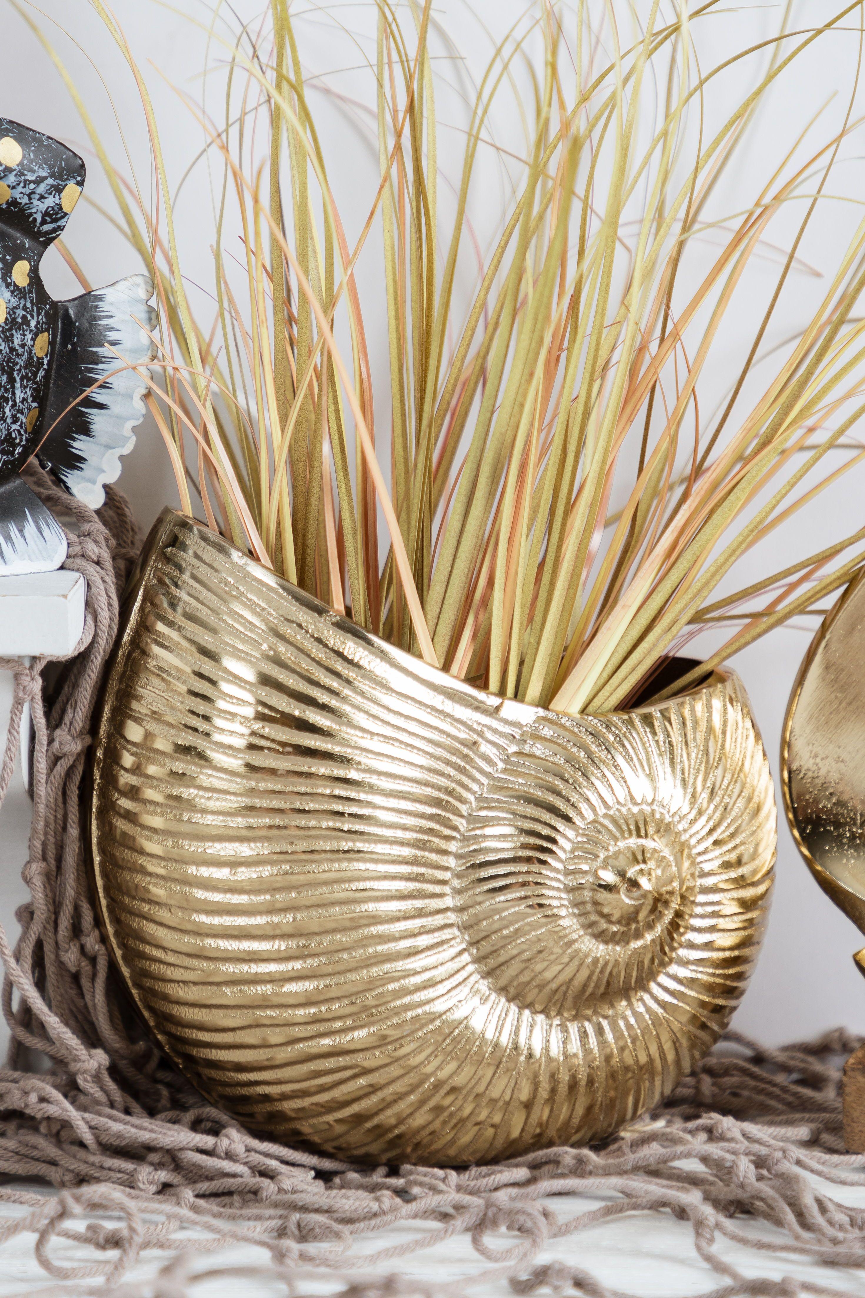 Goldene Muschelvase Nanu Nana Maritime Deko Deko Dekoration