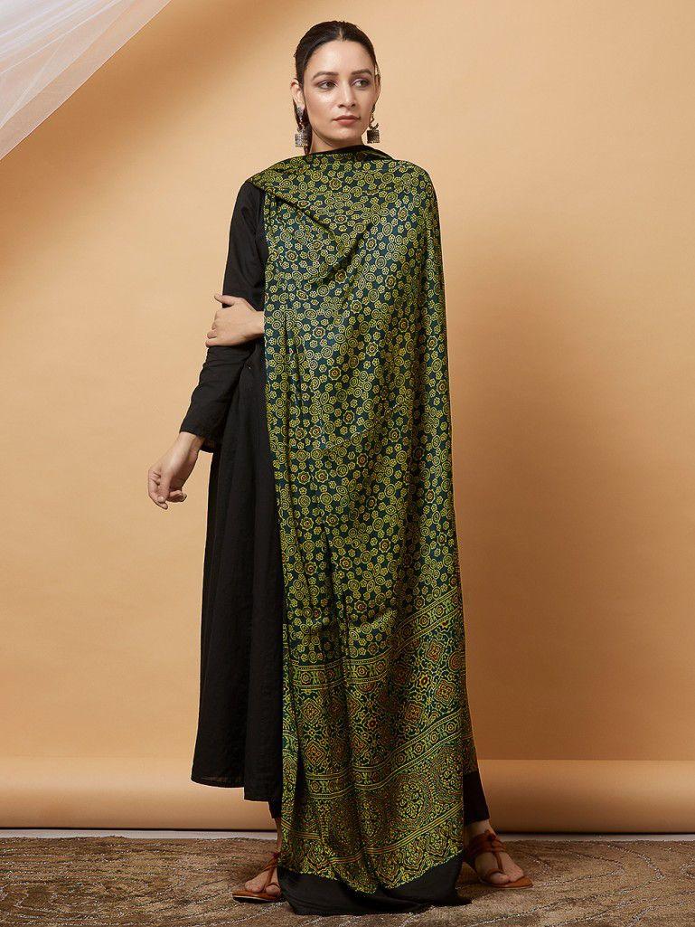 Ajrakh Dupatta Silk Dupatta Modal Silk Dupatta Cocoonkapas Dupatta Ajrakh Modal Silk Dupatta Modal Dupatta Ajrak Modal Dupatta
