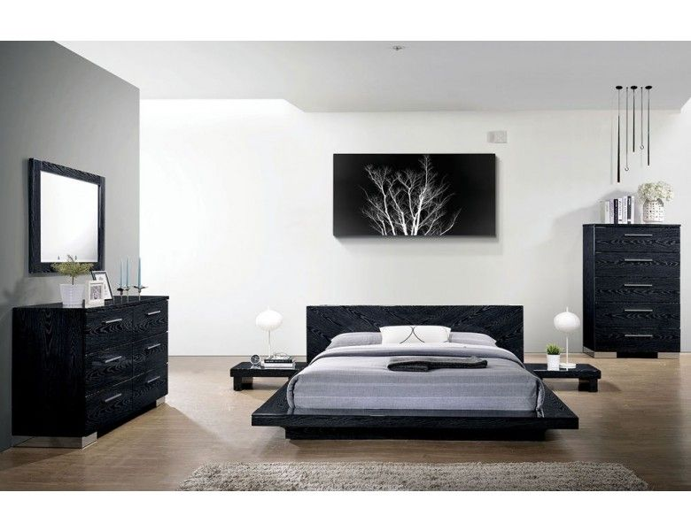 Shiro Night Low Profile Bed Modern Bedroom Furniture Bedroom
