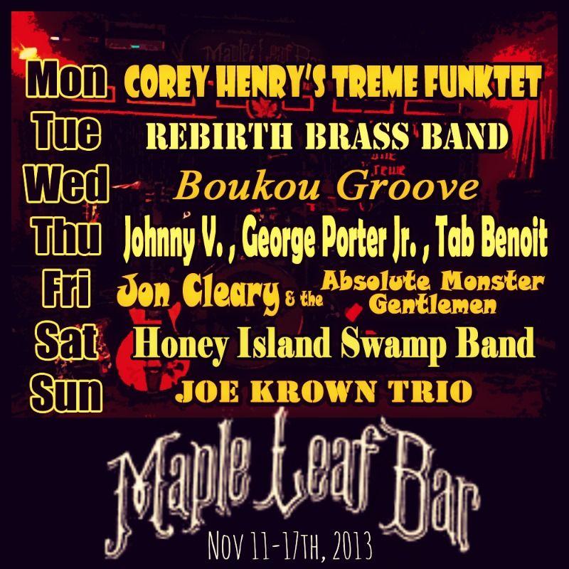 Weekly Lineup November 11-17th, 2013