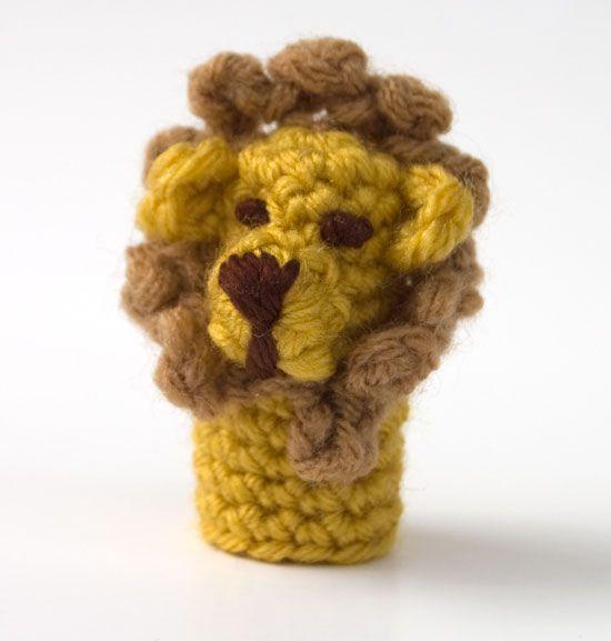 Lion Finger Puppet Crochet Pattern on www.mooglyblog.com other free ...