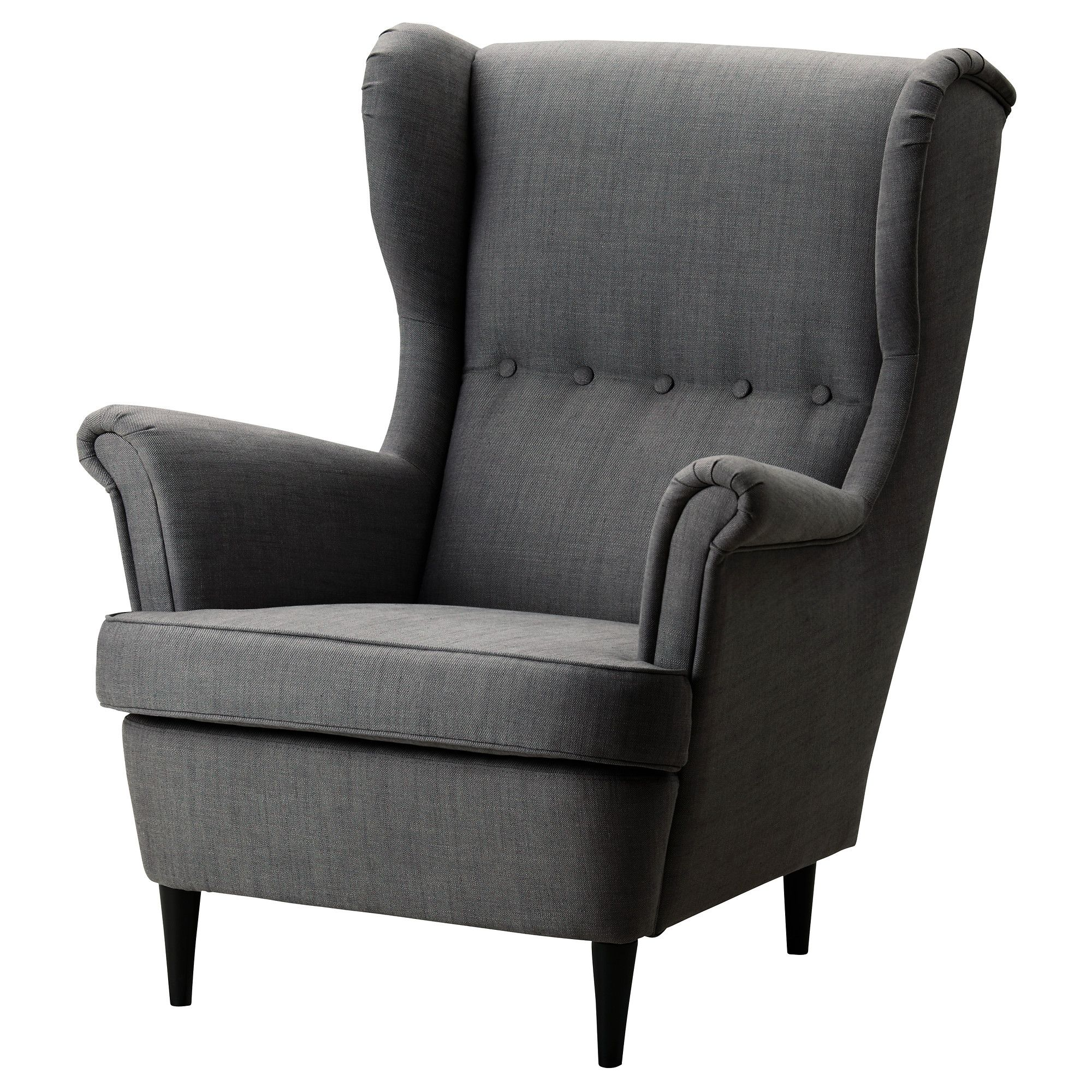 strandmon wing chair svanby gray ikea ikea shopping. Black Bedroom Furniture Sets. Home Design Ideas