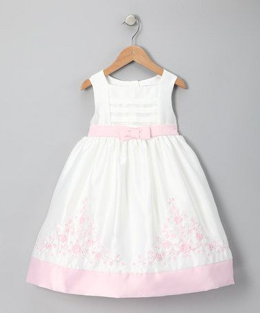 Take a look at this Ivory & Pink Rose Garden Dress - Toddler by Donita on #zulily today!