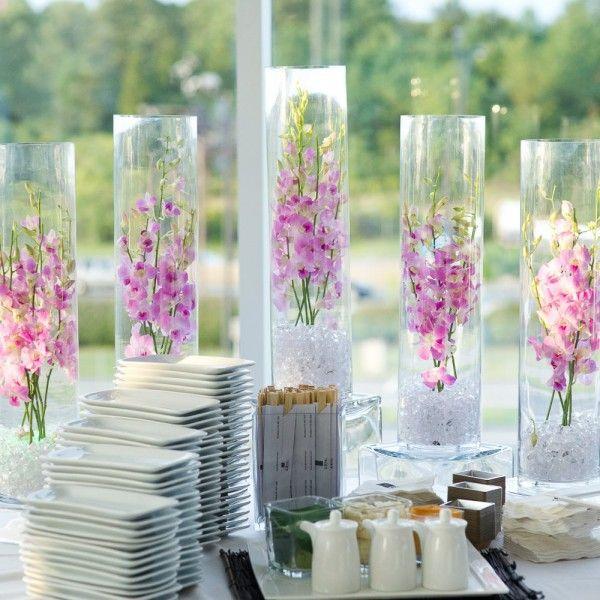 Vase mariage cylindrique 60cm | Vase, Centre de table mariage et ...
