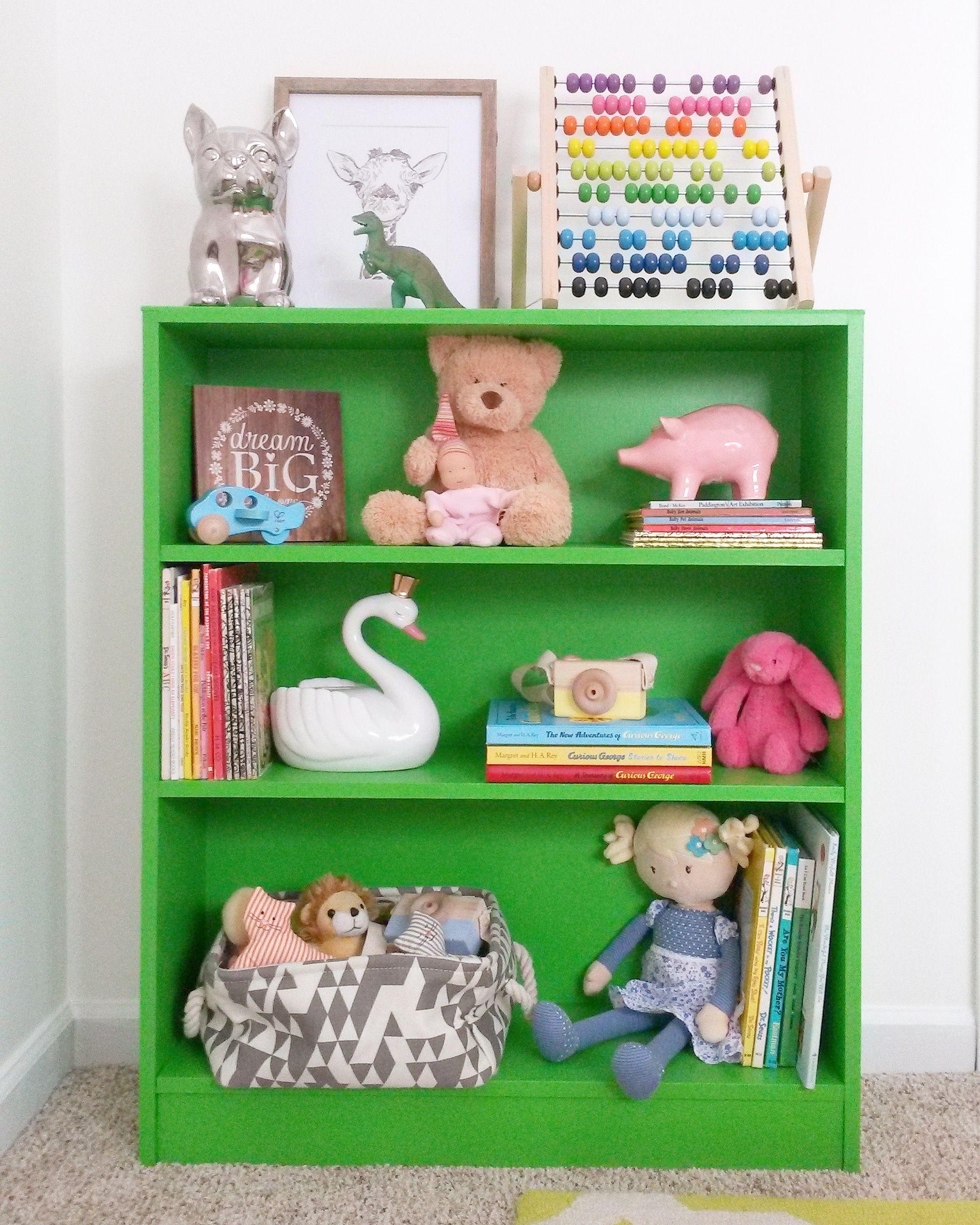 Styled Green Kids Bookshelf So Much Color Kid Bookshelves Cool