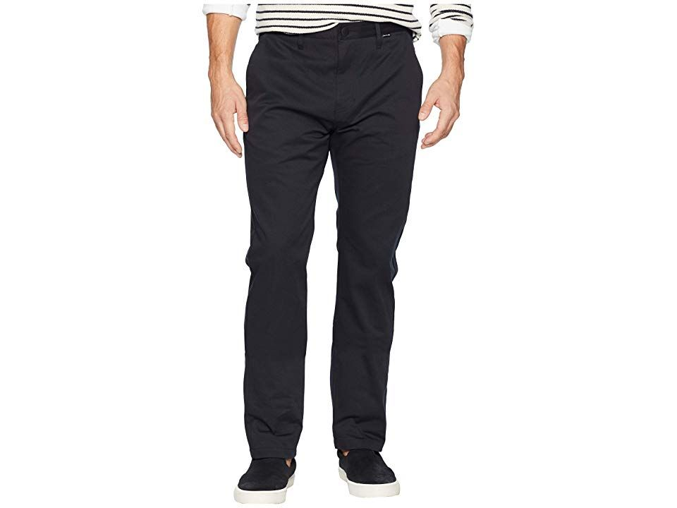 Hurley Icon Chino Pants Black Mens Casual Pants Streamline your style with the Hurley Icon Chino Pants Regular fit chino features a medium rise and a tapered leg DriFIT f...