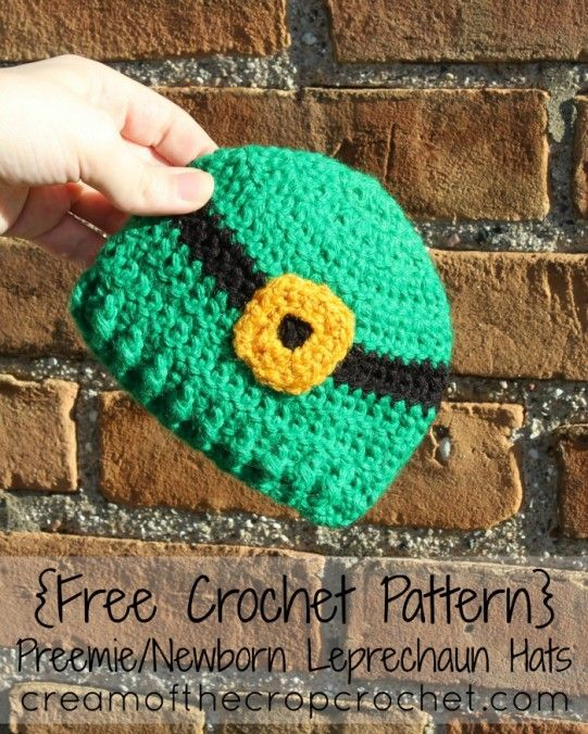 Cream Of The Crop Crochet ~ Preemie Leprechaun Hat {Free Crochet ...