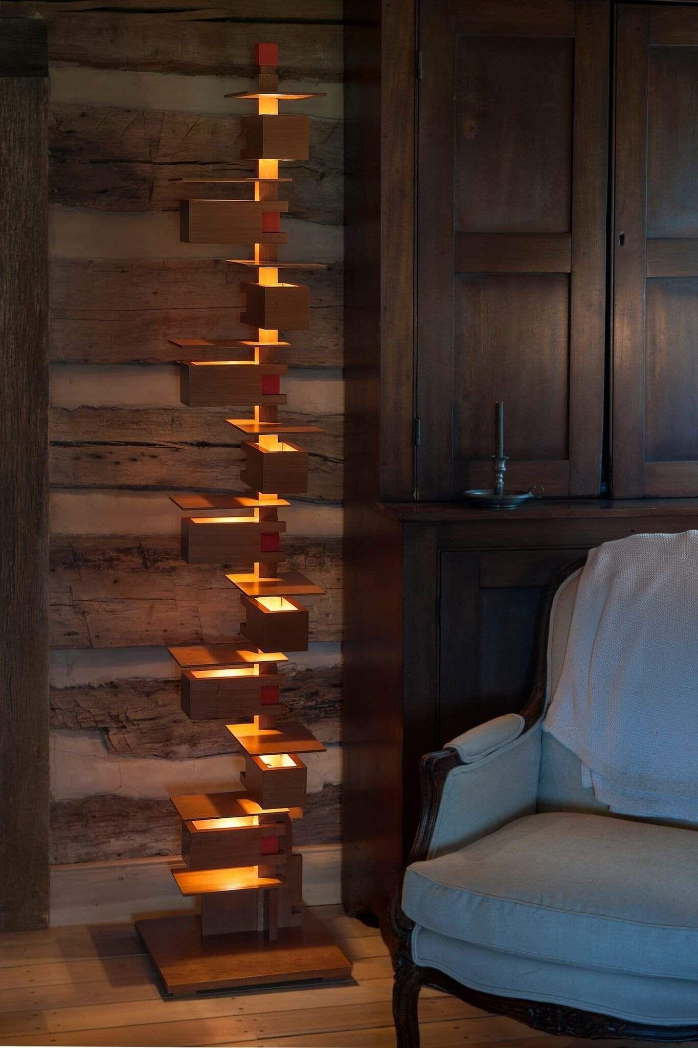 Real Taliesin Cherry Wood Floor Lamp In 2020 Wood Floor Lamp Cherry Wood Floors Wood Wall Lamps
