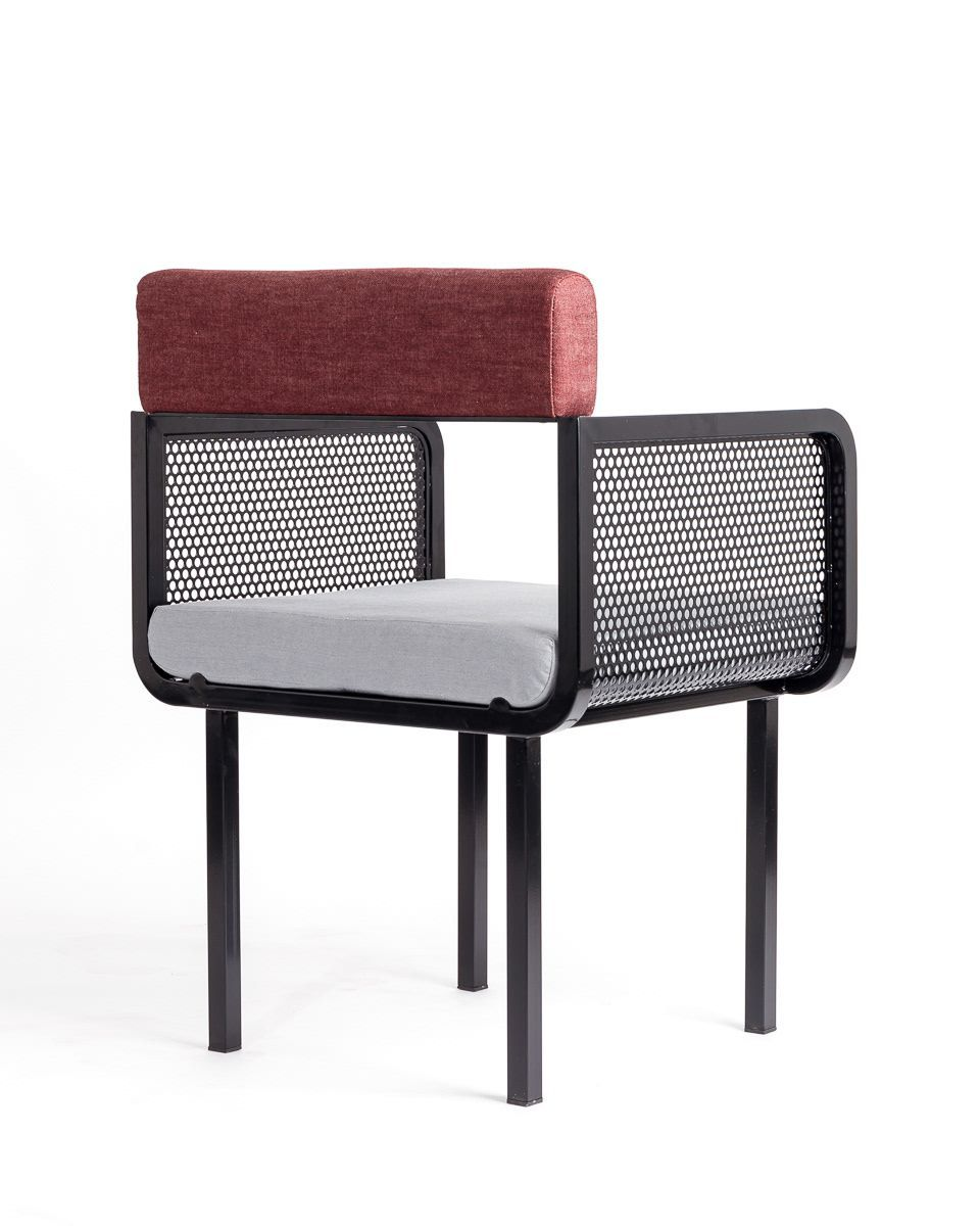 Modern Chair With Perforated Metal I Décor Aid
