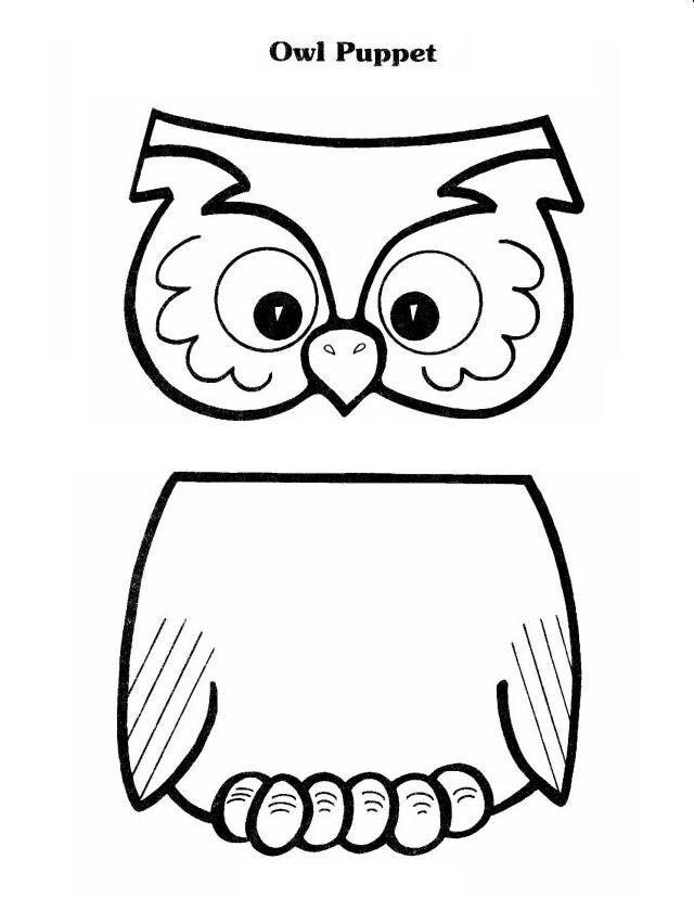 Owl puppet Scrapbooking Templates Pinterest Puppet, Owl and - puppet templates