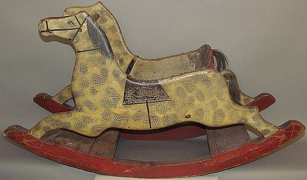Folk art style child's rocking horse