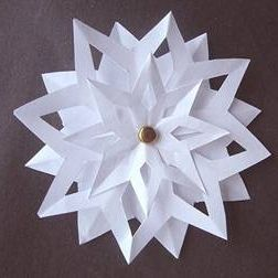 3d paper snowflakes 3d paper snowflakes paper for How to make a real paper snowflake