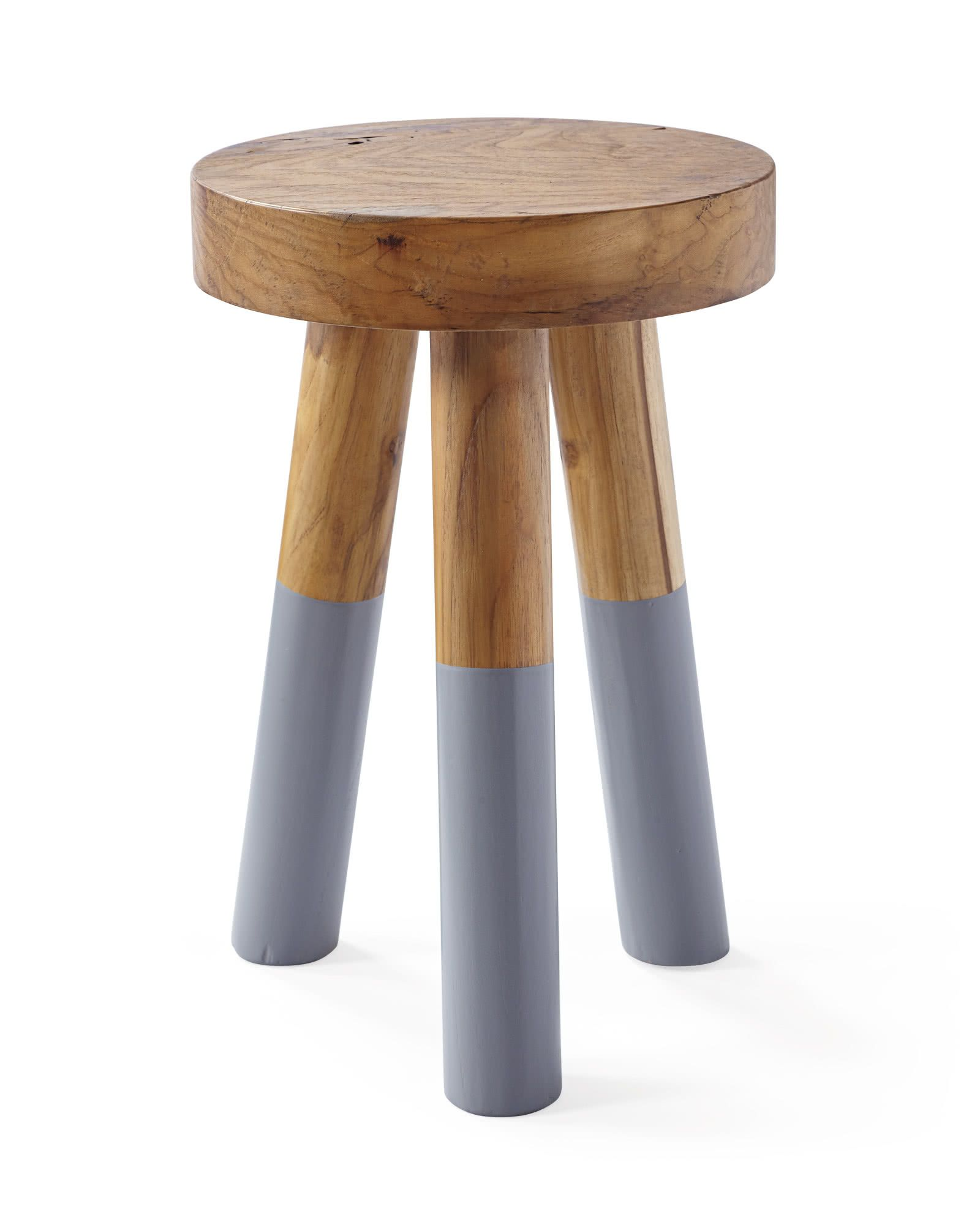 Serena Lily Dip Dyed Stools Glossy Paint Stool Raw Wood