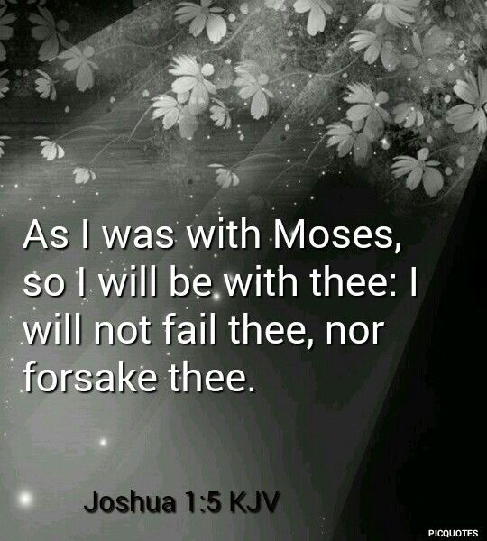 Joshua 1:5 KJV