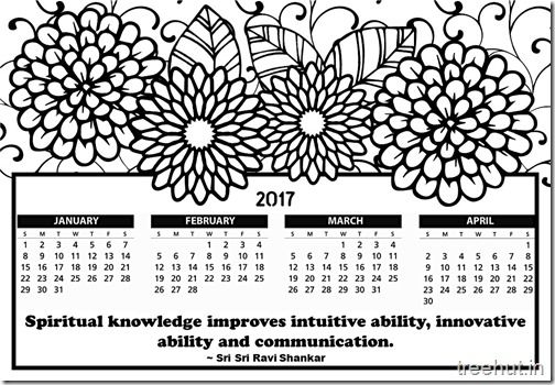 Free Printable 2017 Calendar Coloring Page For Kids 3