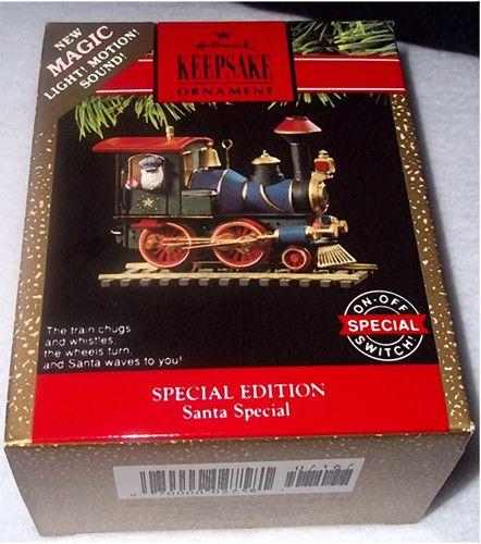 Hallmark 1991 Special Edition Santa Train Light Motion Christmas Ornament  New Hallmark Christmas Ornaments, Christmas - Hallmark 1991 SPECIAL EDITION SANTA Train Light & Motion Christmas