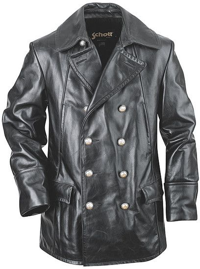 1136a62f39e Double-Breasted Leather Jacket