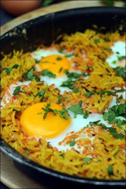 Riz grillé aux épices et aux oeufs ~ Happy papilles #vegetarischerezepteschnell