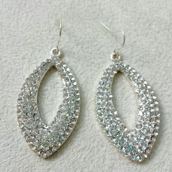 Sparkling Formal Earrings- Costume jewelry. Like new condition.  Super sparkly! Great paired with a formal gown. Too silly paired with yoga pants ;)  Promotion: FREE with $10 purchase...Comment below if interested. Jewelry Earrings