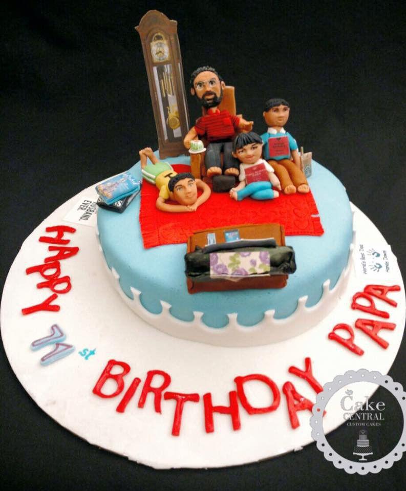 Pleasing Grandfather Cake Best Birthday Gift To A Grandfather Birthday Birthday Cards Printable Inklcafe Filternl