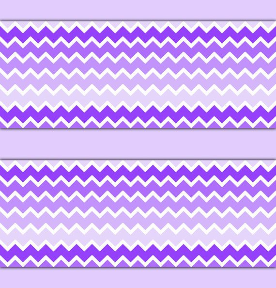 PURPLE OMBRE CHEVRON Wallpaper Border Wall Decal Baby Girl Nursery Childrens  Lavender Bedroom Kids Room Zigzag