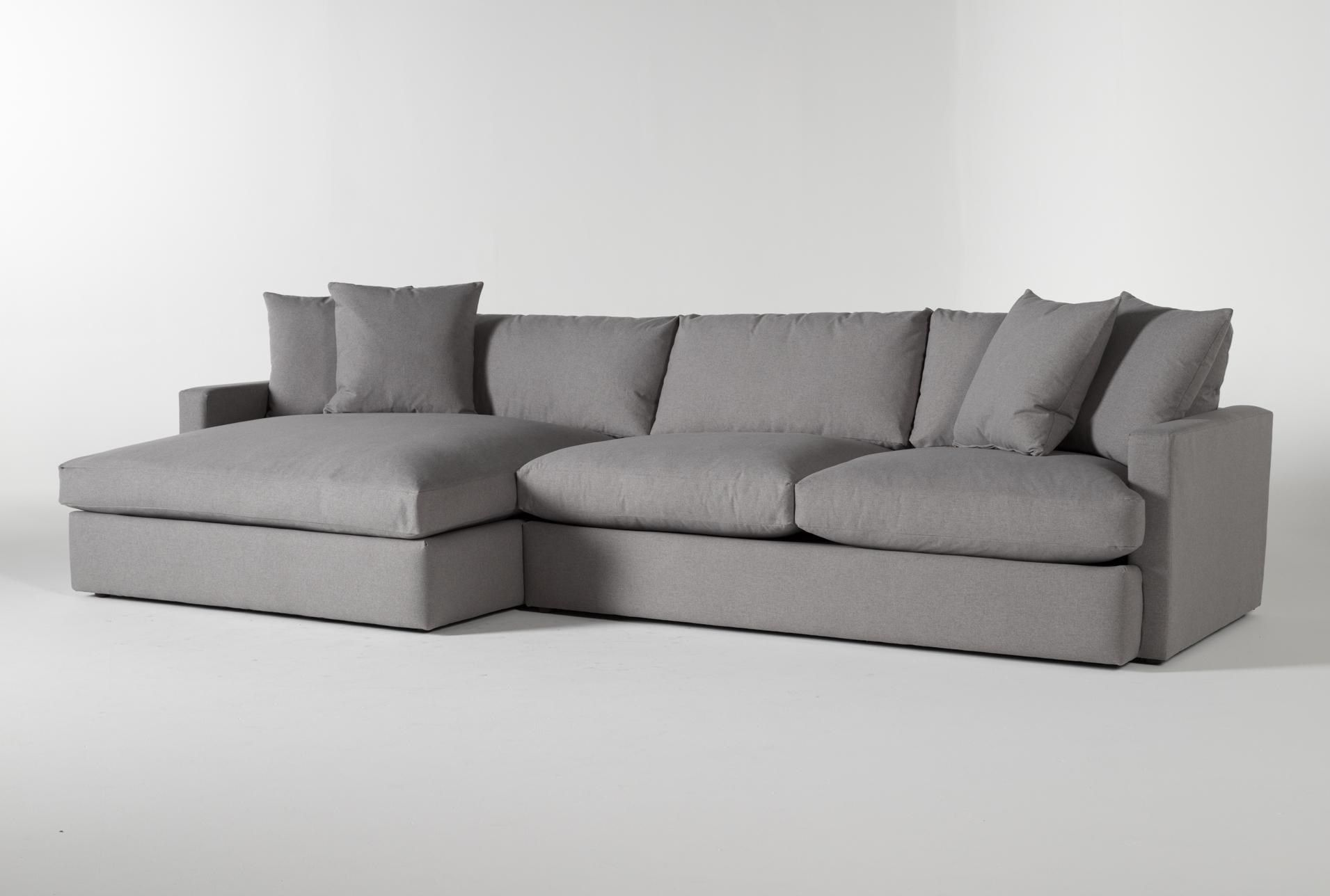 Grand Down 2 Piece Sectional With Left Arm Facing Oversized Chaise In 2020 Sectional Sectional Sofa With Chaise Oversized Sectional Sofa