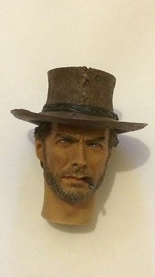 Custom Made 1/6 Scale Clint Eastwood Blonde Head Sculpt Fit hot toys Body DVD