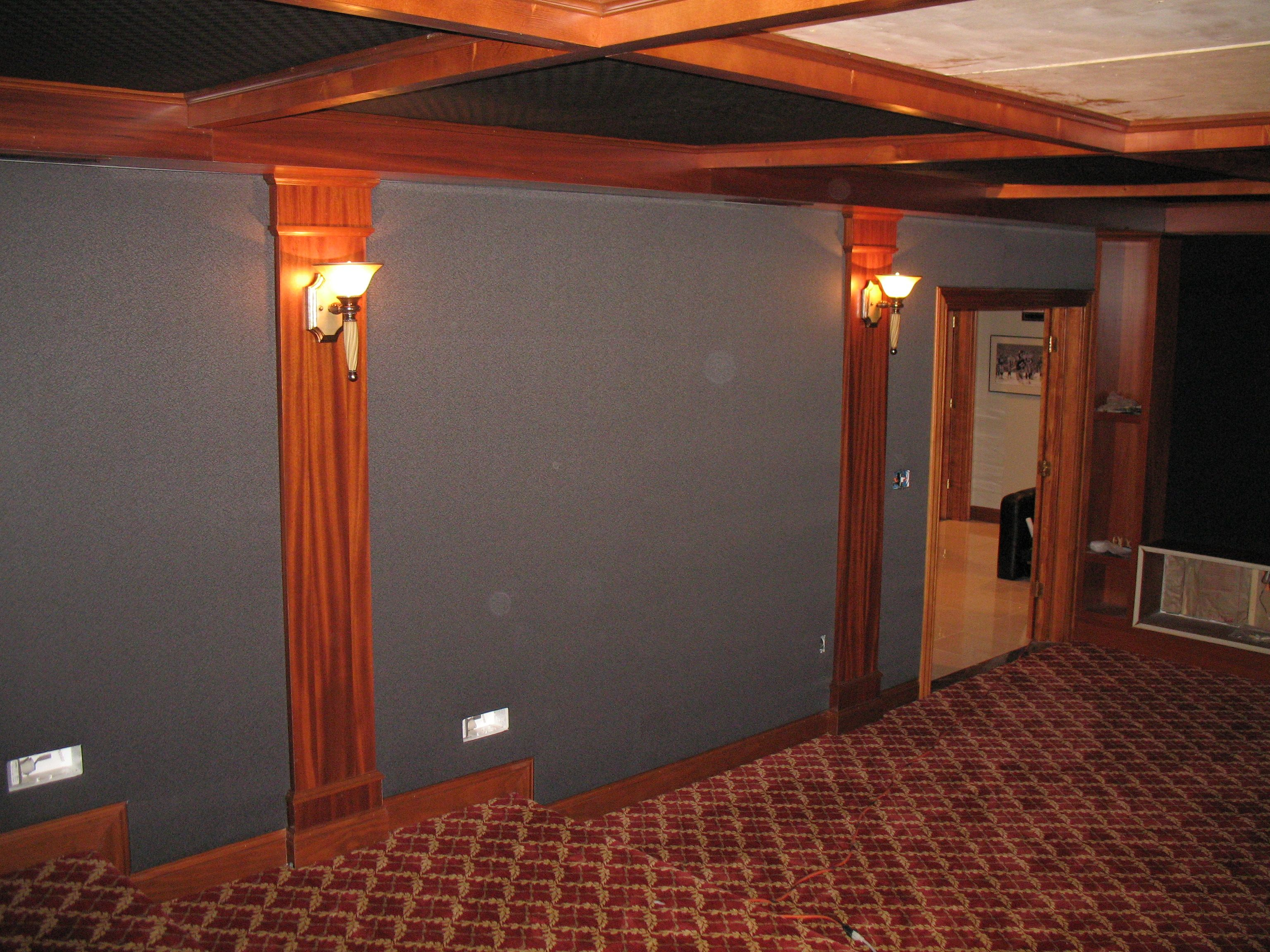 This Design Called For Full Wall Coverage Of Acoustical Treatment And Our  Patented Stretch Fabric System · Stretch FabricHome TheaterAcoustic Part 89