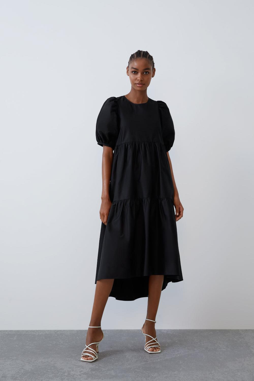 Asymmetrical Poplin Dress New In Trf Zara United States Poplin Dress Women Dresses Casual Summer Dresses [ 1500 x 1000 Pixel ]