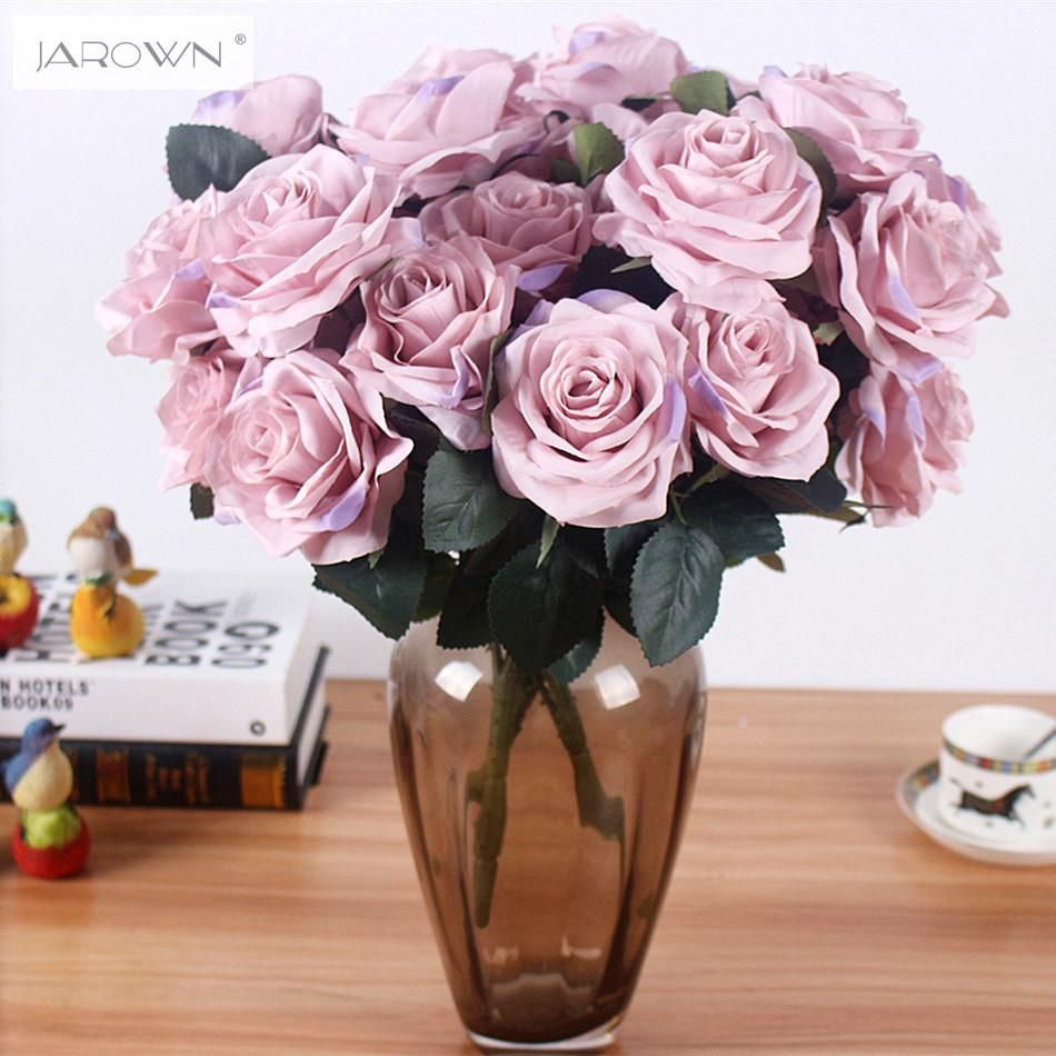 Artificial Silk 1 Bunch French Rose Floral Bouquet Fake Flower
