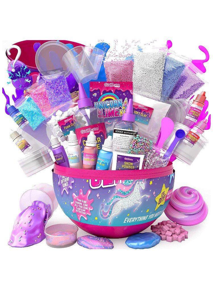 Unicorn Egg Sparkly Surprise Slime Kit For Kids Everything In Etsy In 2021 Unicorn Egg Girl Gift Baskets Christmas Gifts For Girls