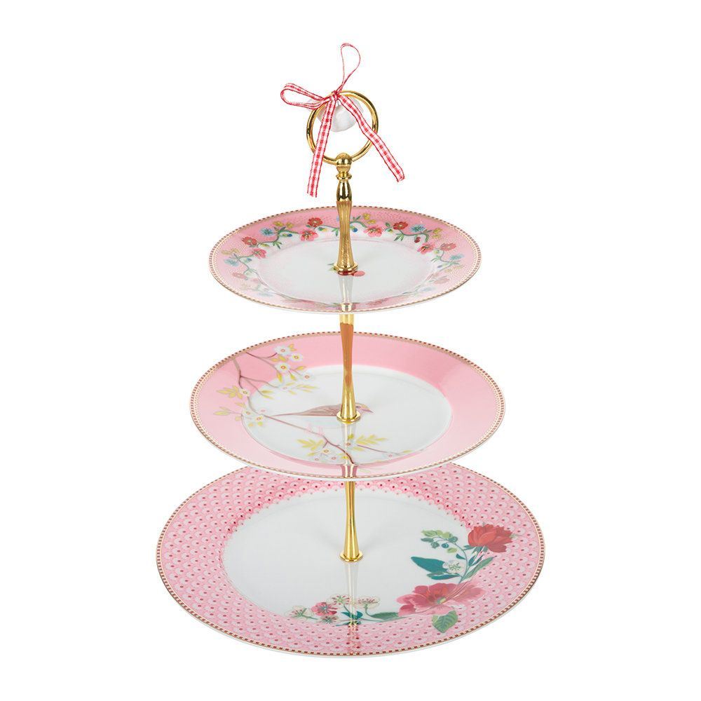 Buy pip studio floral 3 tier cake stand pink with