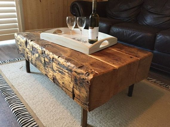 Handmade Rustic Wood Coffee Table Sets Available By Ruffhandmade