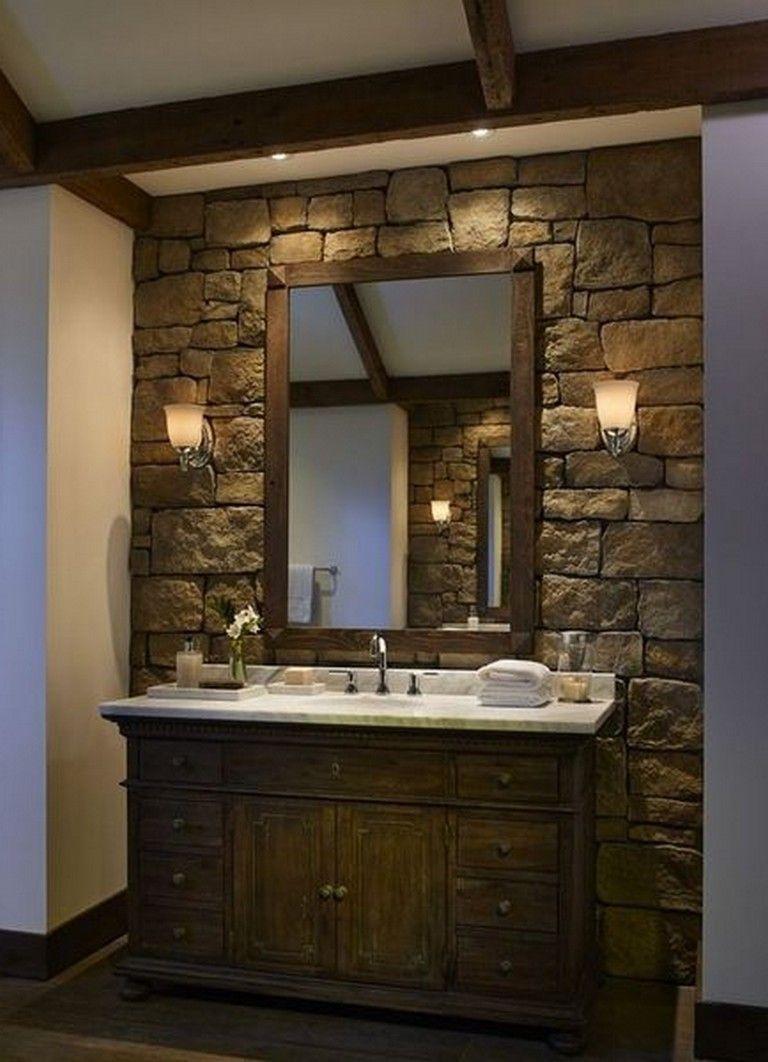 55 exciting bathroom wall decor ideas stone bathroom on bathroom renovation ideas diy id=24014