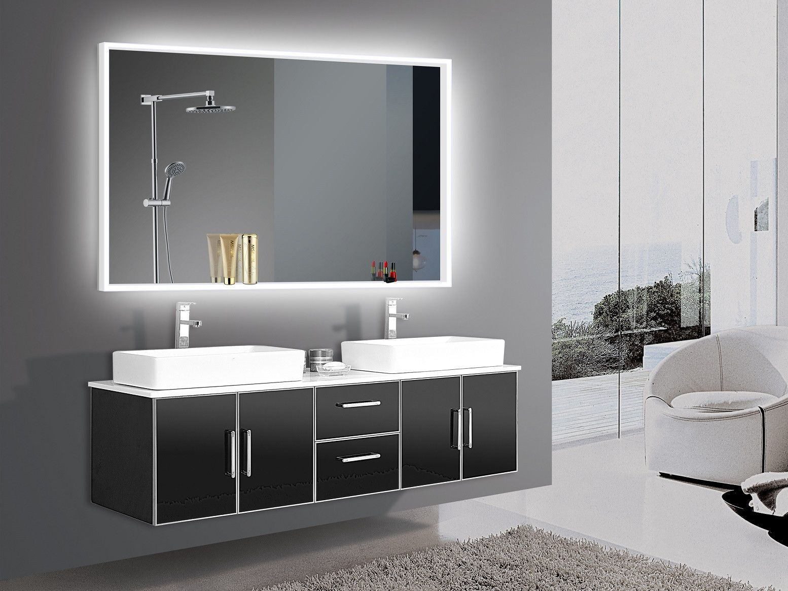 Lighted Mirror Acrylic 60 X 36 In Available 25th November Pre Order