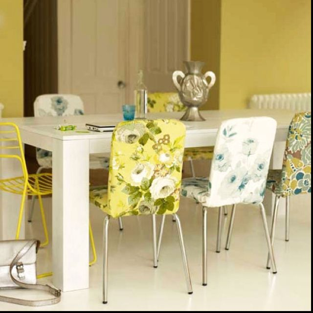 Floral Dining Room Chairs Via Apartment Therapy  Upcycle Captivating Patterned Dining Room Chairs Inspiration