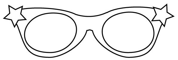 Star Glasses Template Coloring Pages Coloring Pages Free