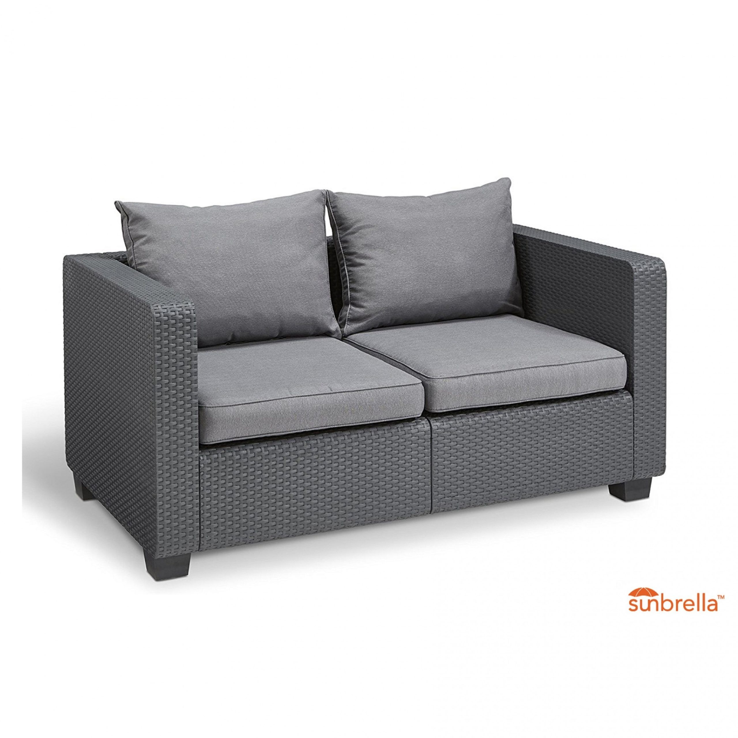Keter Garden Sofa Set in 9  Furniture loveseat, Sunbrella