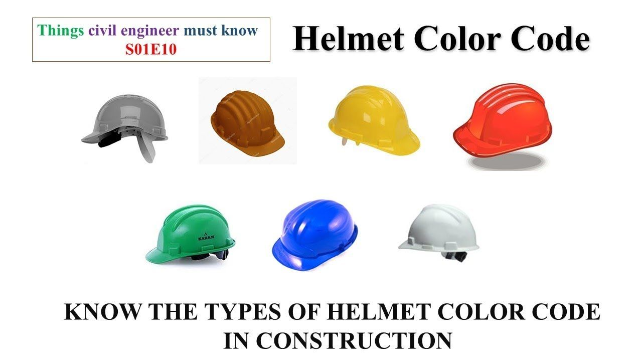 Helmet Color Code Things Civil Engineer Must Know S01e10 Lcet
