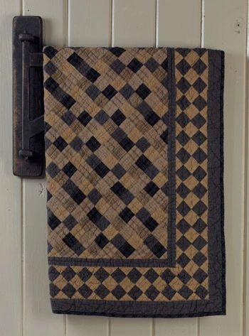 Primitive Squares Quilt is part of Quilt rack, Square quilt, Quilts, Old quilts, Blue quilts, Small quilts -