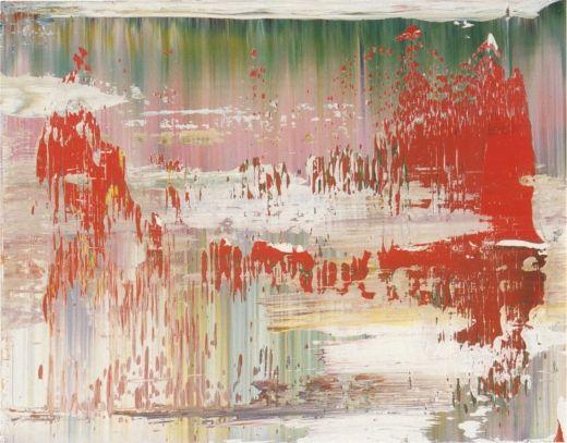 Abstract Painting 1997 29 cm x 37 cm Oil on Alu Dibond Catalogue Raisonné: 841-12