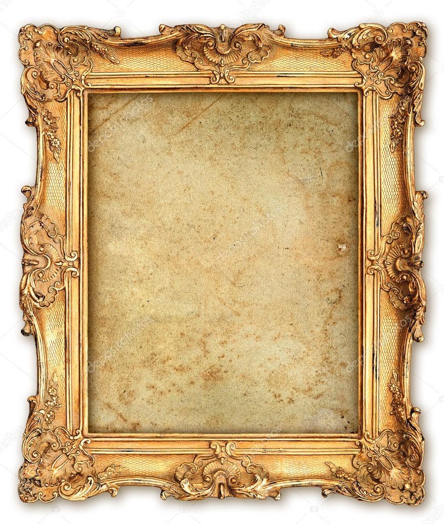 Old Golden Frame With Empty Grunge Canvas Stock Photo Affiliate Empty Frame Golden Photo Frame Wallpaper Vintage Photo Frames Empty Picture Frames
