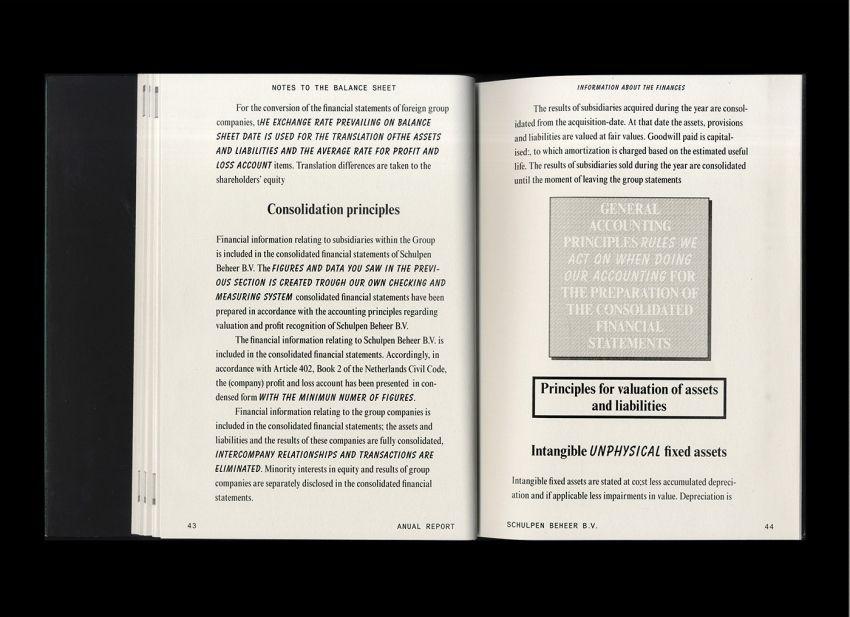 Floris van Driel u2013 Graphic Design   Schulpens Schuim Layout - financial statement layout
